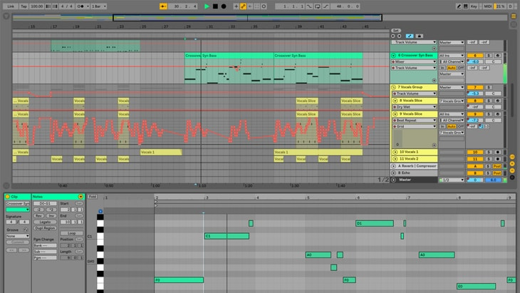 Ableton Live. One of the best paid DAWs (Digital Audio Workstations).
