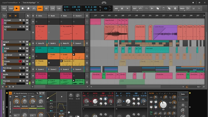 Bitwig Studio. One of the best paid DAWs (Digital Audio Workstations).