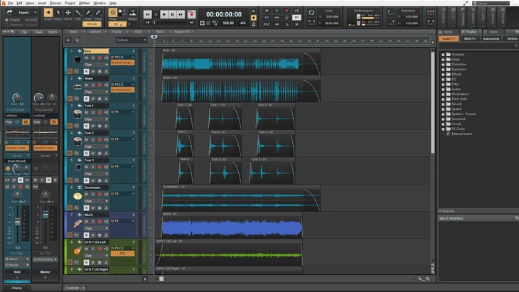 Cakewalk. One of the best FREE DAWs (Digital Audio Workstations).