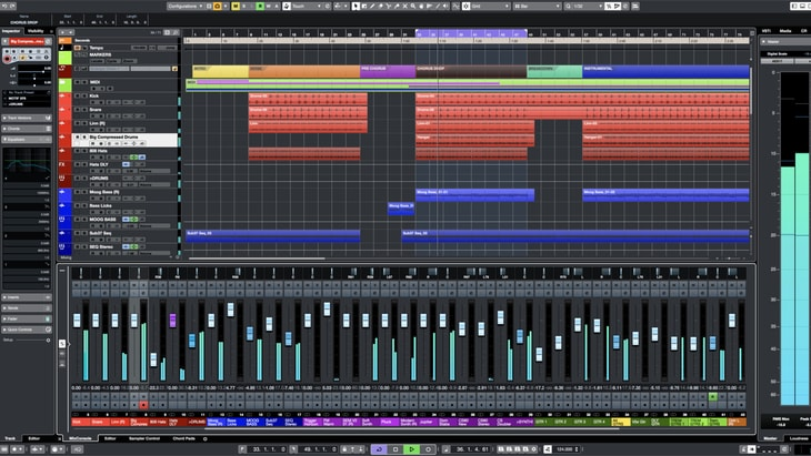Steinberg Cubase. One of the best paid DAWs (Digital Audio Workstations).