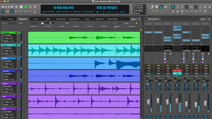 Digital Performer. One of the best paid DAWs (Digital Audio Workstations).