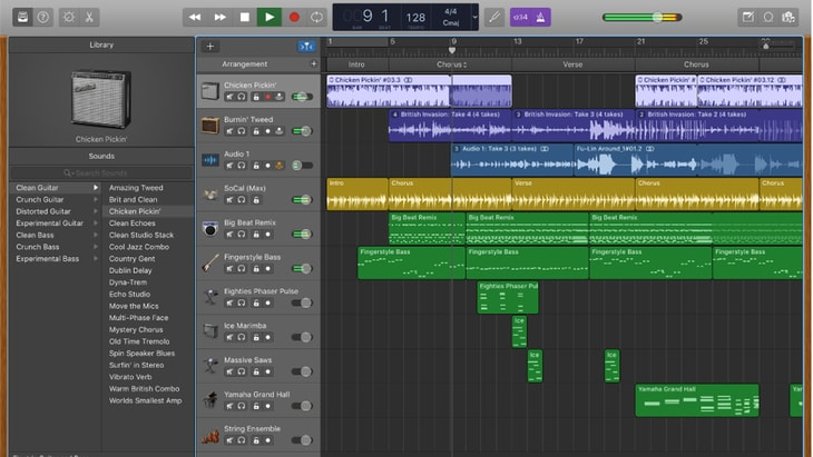 GarageBand. One of the best FREE DAWs (Digital Audio Workstations).