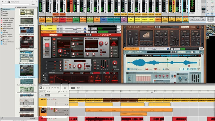 Propellerhead Reason DAW. One of the best paid DAWs (Digital Audio Workstations).