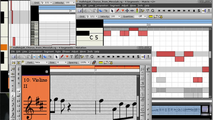 Rosegarden. One of the best FREE DAWs (Digital Audio Workstations).