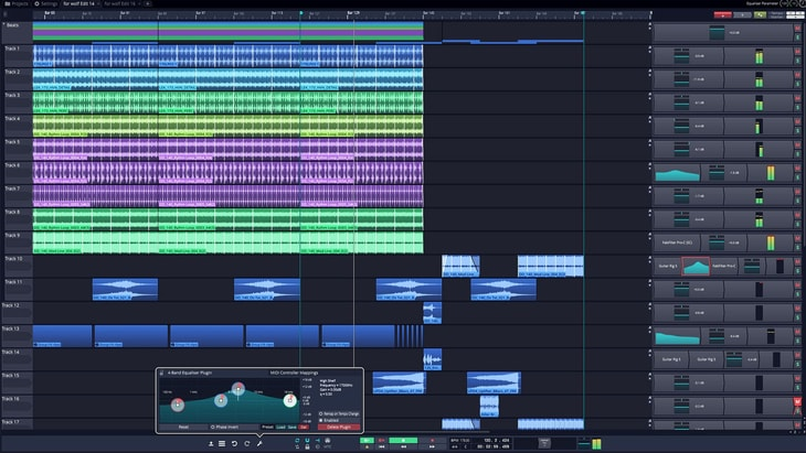 Tracktion T7. One of the best FREE DAWs (Digital Audio Workstations).