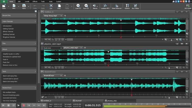 WavePad. One of the best FREE DAWs (Digital Audio Workstations).