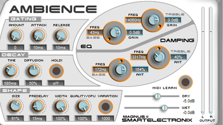 Ambience (One of the Best Free VST Effect Plugins)