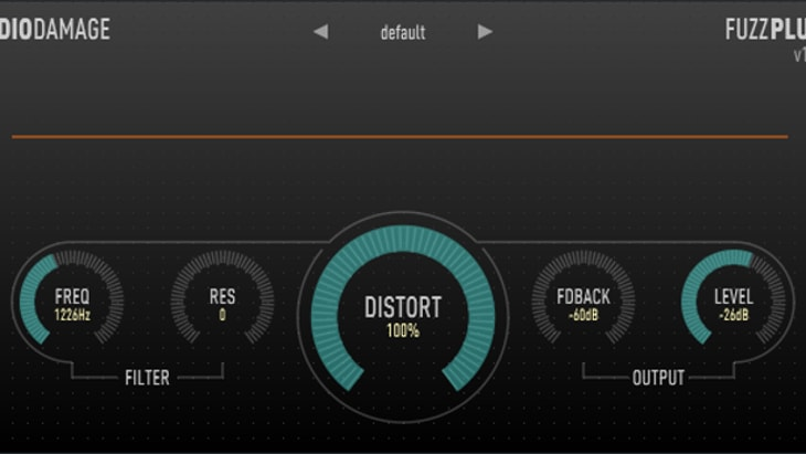 FuzzPlus 3. One of the best free audio distortion effect plugins.