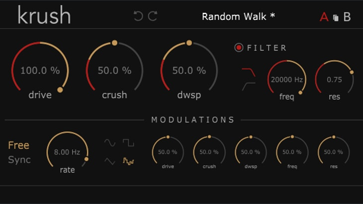 Krush. One of the best free audio distortion effect plugins.
