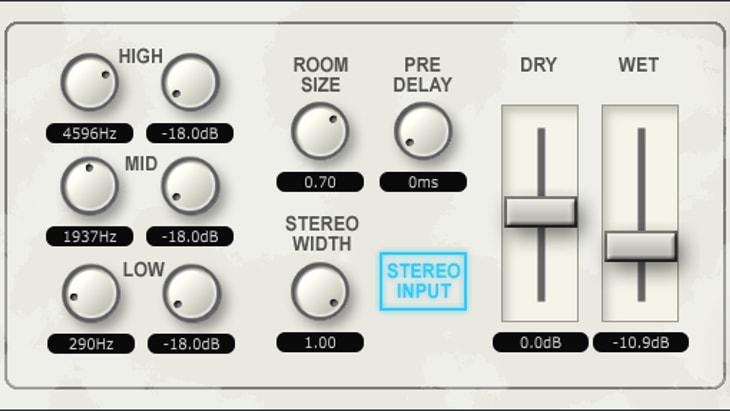 TAL-Reverb-2. One of the best free effect plugins for mixing.