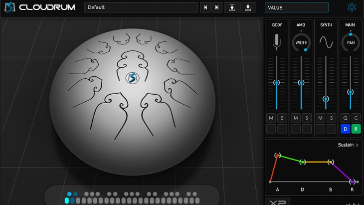 Ample Sound Cloudrum. One of the best free realistic instrument VST plugins.
