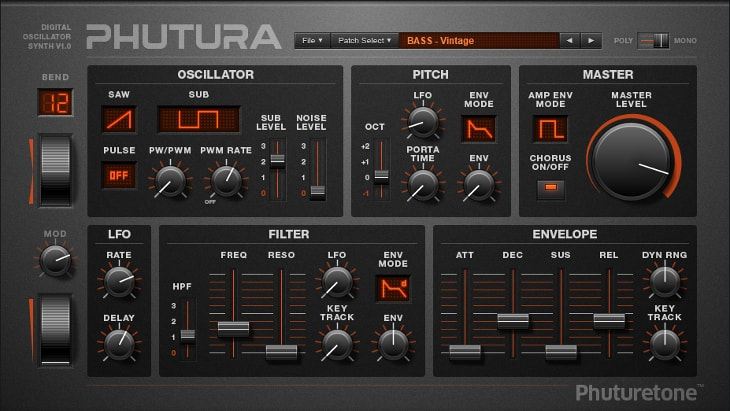 Phutura. One of the best free synths for EDM and electronic music.