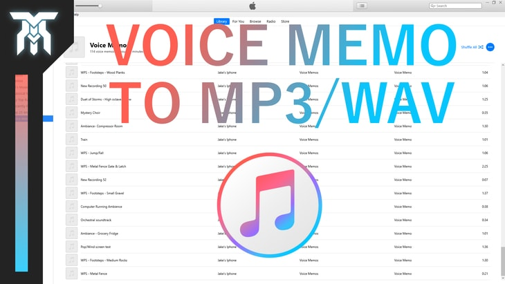 How To Convert Voice Memos to MP3/WAV in iTunes